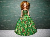 Candy Cane Ballgown with purse PREORDER