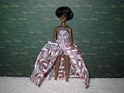 CANDY CANE DELIGHT Euro gown with purse
