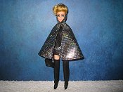 Metallic Cape with matching mini purse leggings