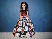 Cards Ballgown with purse
