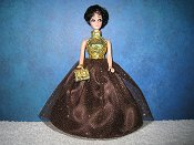 Chocolate Glitter ballgown