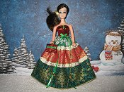 Green Snowflakes Christmas Gown