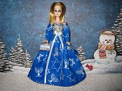 Blue and Silver with wrap Holiday Ballgown