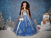Blue and Silver Holiday Tulle Ballgown