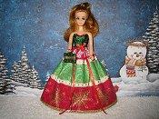 Red Snowflakes Christmas Ballgown