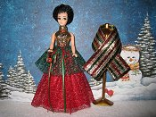Christmas Cheer Swirl gown with wrap PREORDER