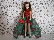 Euro Green & Red gown with purse PREORDER