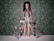 Euro Silver Green Red gown with purse PREORDER