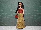 Slim Gown with purse