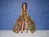 Christmas Swirls Euro style gown with purse