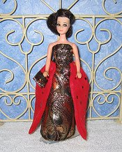 CRIMSON ELEGANCE gown with purse