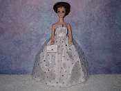 CRYSTAL gown with purse