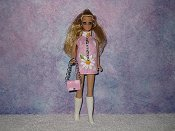 Daisy Pink dancing mini with purse