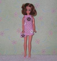 Daisy Pink Sparkle mini with purse