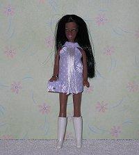 Daisy Purple fringe dancing mini with purse