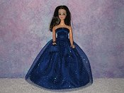 DEEP BLUE gown with purse