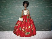 Reindeer Gown with purse PREORDER