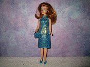 Diamond Blue Gold Dress