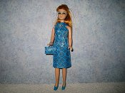 Diamond Blue Silver Dress