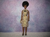 Diamond Cream Gold Dress with purse