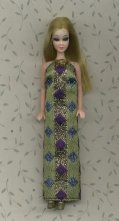 Diamond Gown--Striped with green/gold/blue/purple