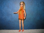 Orange And Gold Dancing Diamond Mini