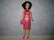 Diamond Pink Dress with purse