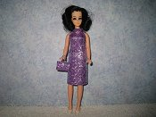 Diamond Purple Dress with purse
