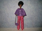 Diamond Pink Purple Pantset with purse