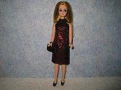Diamond Red Dress with purse