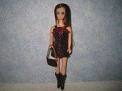 Diamond Red Black mini with purse