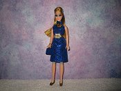 Diamond Sapphire dress with belt & purse