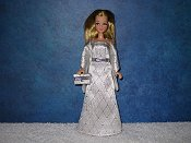 SILVER DIAMOND gown wrap & purse