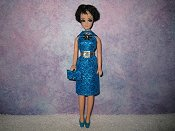 Diamond Turquoise Dress with purse