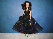 Dots in Rainbow Metallic Dress