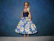 Large Blue Daisy Dress