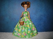 Green Chicks gown with basket