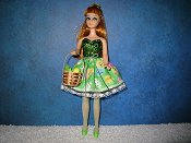 Green & Chicks Mini with Lace