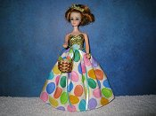 Sparkle Jelly Bean gown with basket