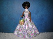 Lavender & White Bunny gown with basket