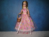 Pink Dress with basket