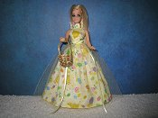 Yellow Tulle Gown with basket
