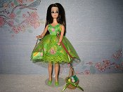 Green dress with purse (Angie)