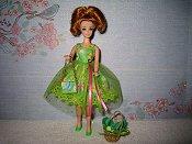 Green Dress with purse (Daphne)
