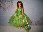 Green Dress with purse (Glori)
