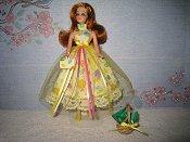 Yellow Tulle Dress with purse & basket (Glori)