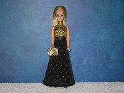 EBONY DIAMOND gown & purse
