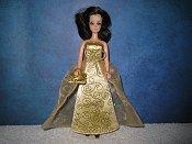 Golddust gown & purse