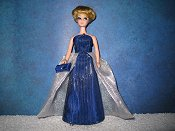 MIDNIGHT RAIN gown with purse