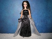 Elegance Raven gown with purse